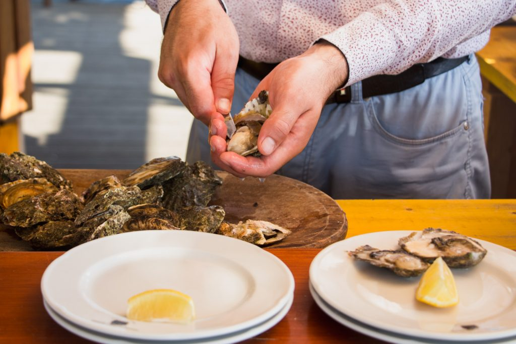 Nothing beats fresh oysters, straight from the sea